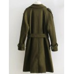 Double Breasted Woollen Blend Trench Coat deal