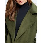 Lapel Belted Double Breasted Wool Blend Coat photo