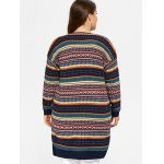 Plus Size Tribal Knitted Cardigan for sale