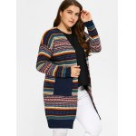 cheap Plus Size Tribal Knitted Cardigan
