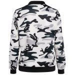 cheap Camouflage Zippered Bomber Jacket