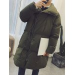cheap Turndown Collar Zip Up Puffer Coat