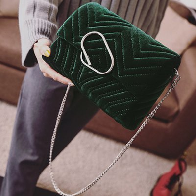 Clip Covered Closure Crossbody Bag