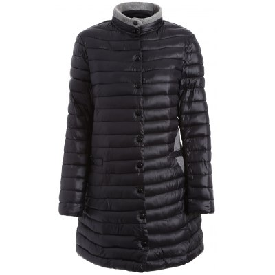 Two Tone Plus Size Quilted Jacket