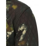 Printed Pocket Zip Up Quilted Patterned Hoodies deal