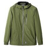 Zippered Elastic Cuff Hooded Padded Jacket deal