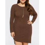 Plus Size Bodycon Ribbed Sweater Dress