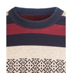 Crew Neck Stripe and Graphic Knitting Sweater deal