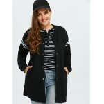 cheap Plus Size Striped Jacket