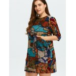 Plus Size Geometrical Print Dress for sale