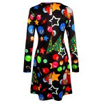 cheap Knee Length Christmas Tree Star Dress