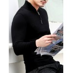 Slim Fit Half Zip Polo Sweater for sale
