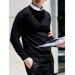 Crew Neck Varsity Striped Pullover Knitwear for sale