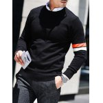 Crew Neck Varsity Striped Pullover Knitwear deal