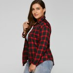 best Checked Plus Size Shirt