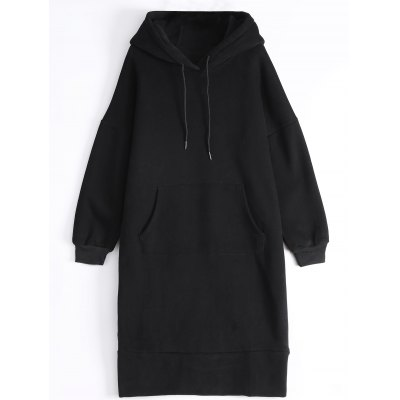 Loose Patched Long Hoodie
