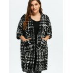 cheap Plus Size Space Dyed Chunky Cardigan