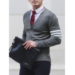 Slim Fit V Neck Striped Pocket Cardigan deal