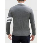 best Slim Fit V Neck Striped Pocket Cardigan