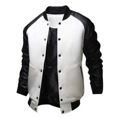 Leather Insert Raglan Sleeve Jacket