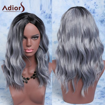 Adiors Fluffy Medium Wave Capless Centre Parting Synthetic Wig