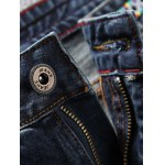 Tapered Fit Paint Splatter Scratched Patch Jeans deal