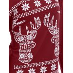 Christmas Fawn Printed Skew Neck T-Shirt for sale