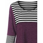Plus Size Striped Tunic T-Shirt deal