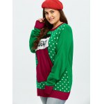 Plus Size Christmas Stock Pattern Sweater deal