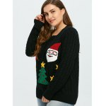 Flocked Tree and Gift Pattern Christmas Sweater deal