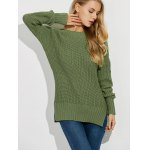 Backless Lace Up Ribbed Sweater deal