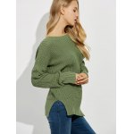Backless Lace Up Ribbed Sweater for sale