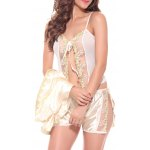 Embroidered Sheer Cami Top and Shorts and Robe deal
