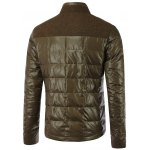 cheap Double Layered Collar Spliced Pocket Quilted Jacket
