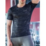 cheap Quick-Dry Round Neck Printed Fitted Short Sleeve T-Shirt For Men