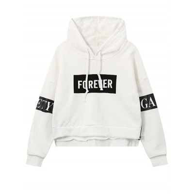 Graphic Patched Hoodie