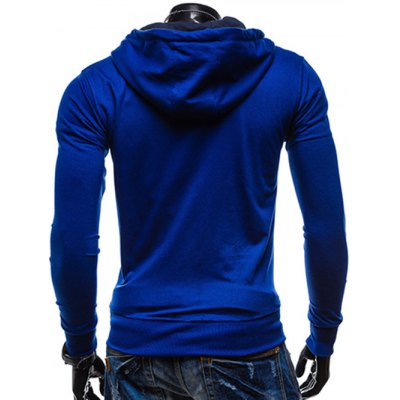 Pocket Front Drawstring Zip Up Hoodie от GearBest.com INT