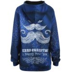 cheap Plus Size Merry Christmas Mustache Hoodie
