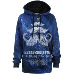 Plus Size Merry Christmas Mustache Hoodie