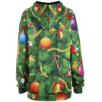 cheap Plus Size Santa Claus Christmas Drawstring Patterned Hoodies