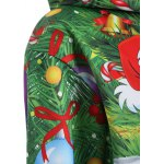 Plus Size Santa Claus Christmas Drawstring Patterned Hoodies for sale
