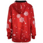 cheap Plus Size Snowman Kangaroo Pocket Christmas Patterned Hoodies