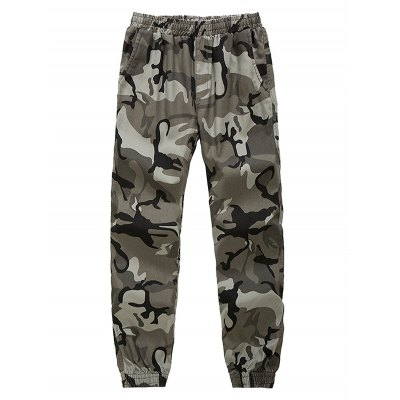 Camouflage Beam Feet Nine Army Jogger Pants