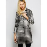 best Lapel Single Breasted Houndstooth Coat