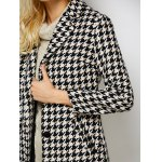 Lapel Single Breasted Houndstooth Coat photo