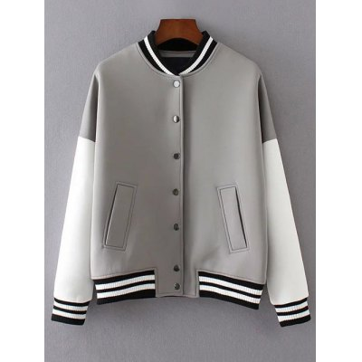 Buttons Loose Baseball Jacket
