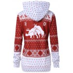 cheap Pullover Kangaroo Pocket Christmas Print Hoodie