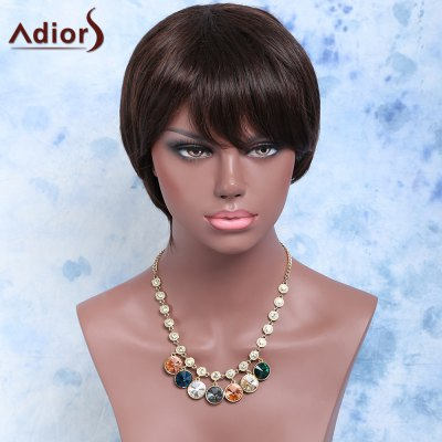 Short Side Bang Straight Synthetic Wig