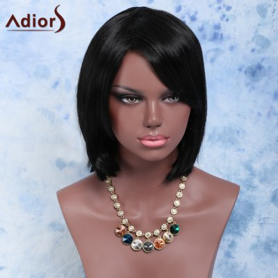 Short Side Bang Straight Bob Synthetic Wig