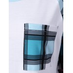 Raglan Sleeve Plaid Plus Size Tee for sale
